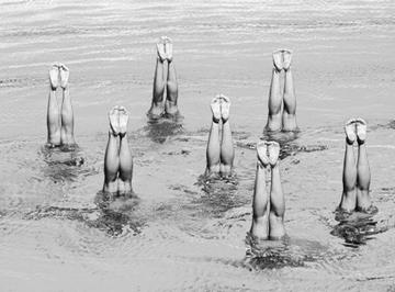 Synchron Schwimmerinnen